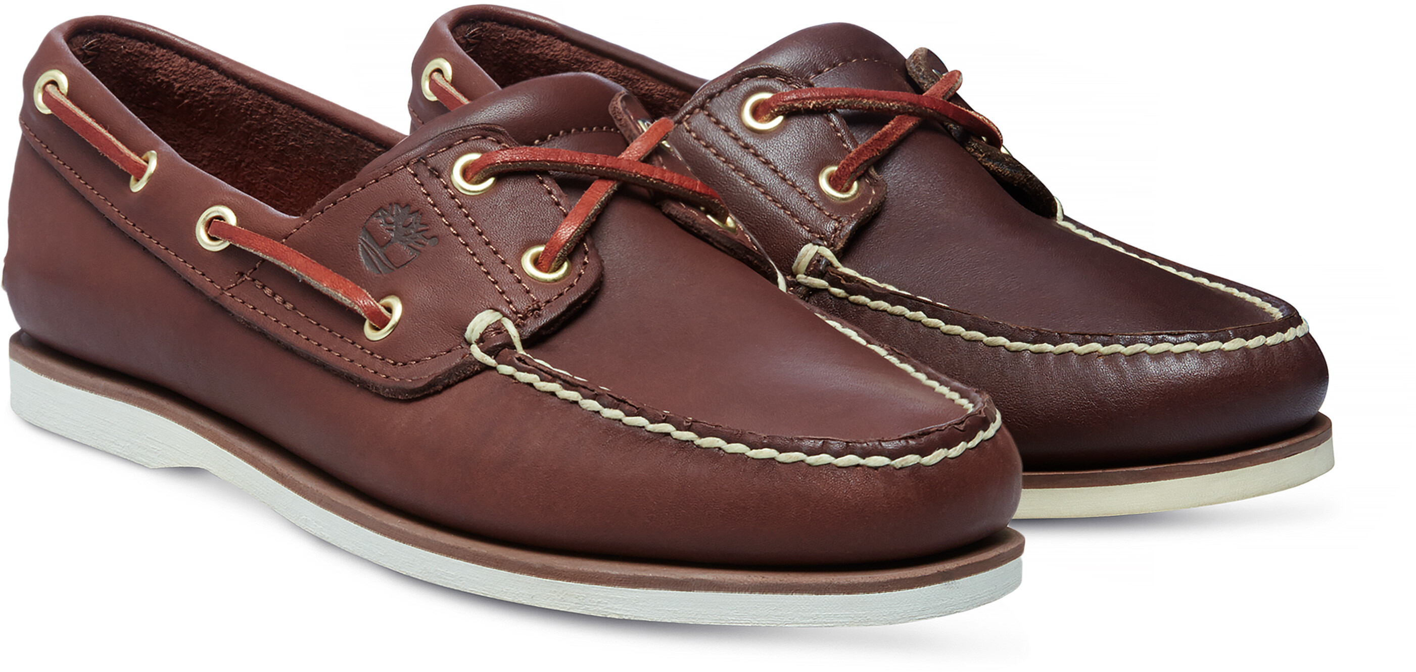 reasonable price sold worldwide check out Timberland Classic 2-Eye Boat Shoes Men medium brown full grain